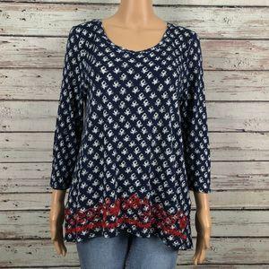 Lucky Floral Embroidered Boho Festival Shirt Top